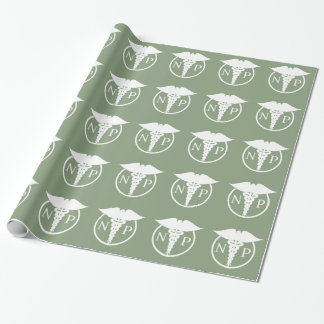 Medical Theme Nurse Pattern Wrapping Paper
