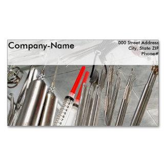Medical Utensils Magnetic Business Card