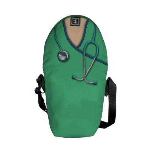 Médical vert frotte sacoche
