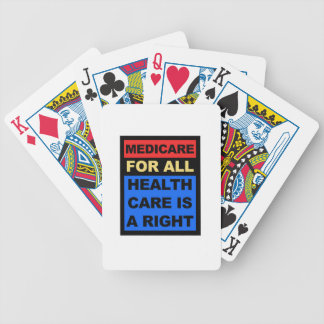 Medicare for All - Healthcare is a Right Bicycle Playing Cards