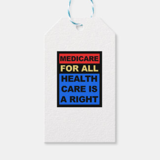 Medicare for All - Healthcare is a Right Pack Of Gift Tags