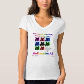 """""""Medicare for All"""" V-neck Women's Tee"""