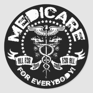 Medicare For Everybody Round Sticker