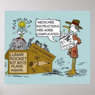 Medicare Joke Cartoon by Ric Leonard Poster