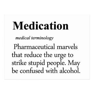 Medication Definition Postcard