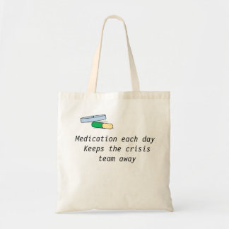Medication each day bag (crisis team)