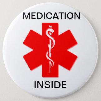Medication inside medical alert button