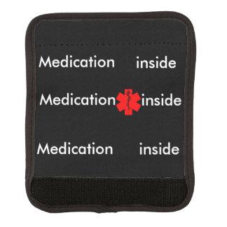 Medication inside wrap luggage handle wrap