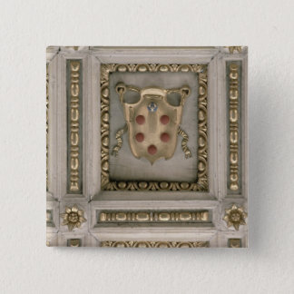 Medici coat of arms, from the soffit of the church 2 inch square button