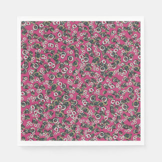 Medici Gardens Colorful Abstract Luncheon Napkin