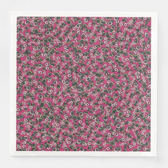 Medici Gardens Colourful Abstract Dinner Napkin Disposable Napkin