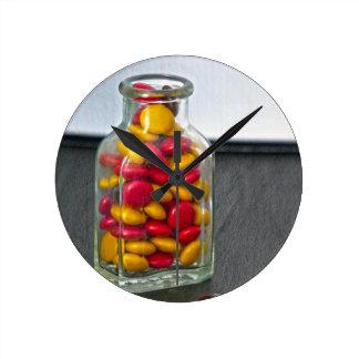 Medicine Bottle of Candy Round Clock