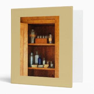 Medicine Cabinet with Asthma Medication Binder