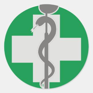 MEDICINE CLASSIC ROUND STICKER
