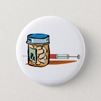 Medicine pills syringe pellet syringe 2 inch round button
