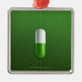 Medicine Silver-Colored Square Ornament