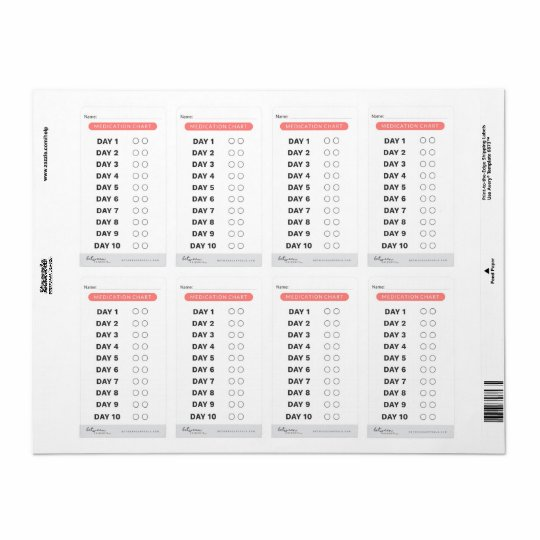 Medicine Tracker Labels