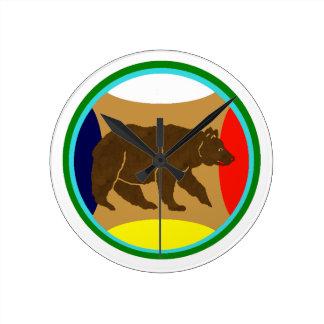 Medicine Wheel Bear Wall Clock