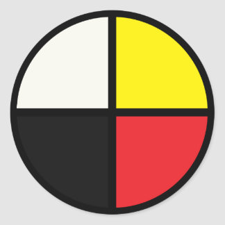 Medicine Wheel Classic Round Sticker