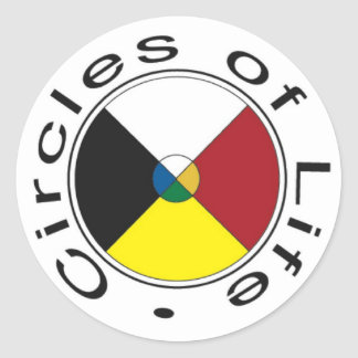 Medicine Wheel - Four Seasons Classic Round Sticker