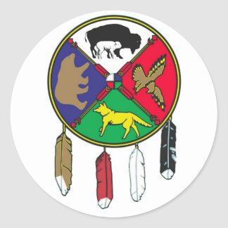 Medicine Wheel WBW Classic Round Sticker