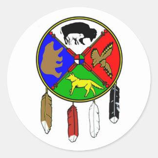 Medicine Wheel - White Buffalo Woman Classic Round Sticker