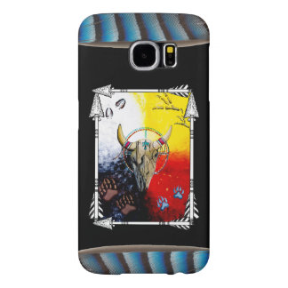 Medicine Wheel with Feathers Samsung Galaxy S6 Cases