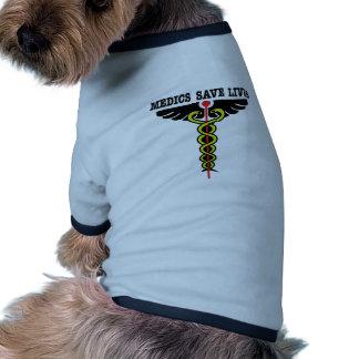 Medics Save Lives Dog T-shirt