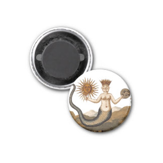 Medieval Alchemy Symbol - Merman with Sun and Moon Magnet
