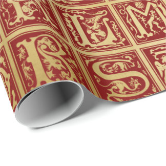 Medieval Alphabet 1 - Wrapping Paper
