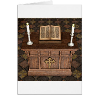 Medieval Alter and Bible Card