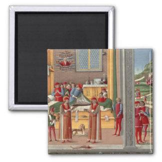 Medieval amputation scene magnet