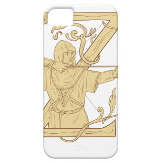 Medieval Archer Aiming Bow and Arrow Letter Z Draw Case For The iPhone 5
