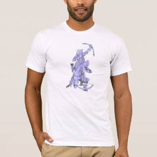 Medieval Archer and Crossbowman - Blue T-Shirt