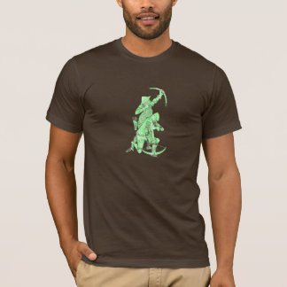 Medieval Archer and Crossbowman - Green T-Shirt