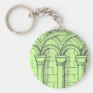 Medieval Architecture Basic Round Button Keychain