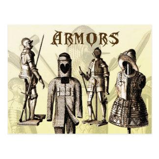 Medieval Armors Postcard