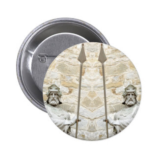 Medieval background with knight in armour 2 inch round button