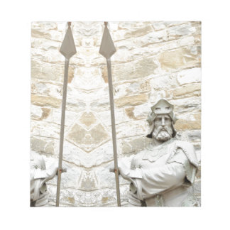 Medieval background with knight in armour notepads