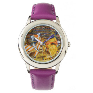 MEDIEVAL BATTLE, FIGHTING KNIGHTS HORSEBACK WATCH