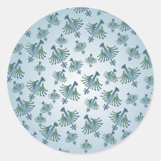 Medieval Bird Pattern Sticker