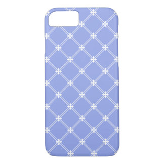 Medieval Blue and White Diamond Pattern iPhone 7 Case