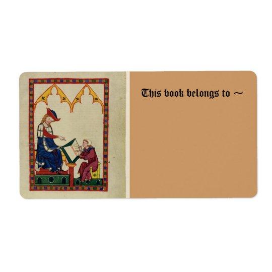 Medieval bookplate