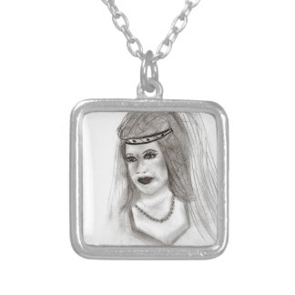 Medieval Bride Silver Plated Necklace