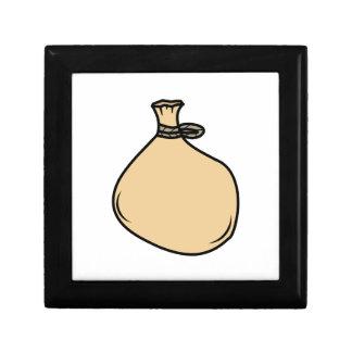 Medieval Brown Sack Bag Gift Box