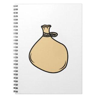 Medieval Brown Sack Bag Spiral Notebook