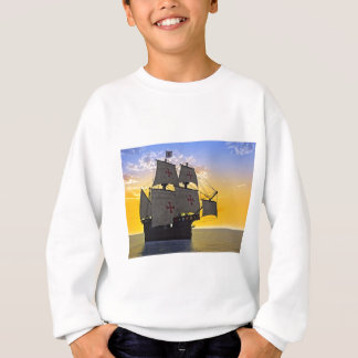 medieval carrack at sunset sweatshirt