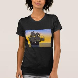 medieval carrack at sunset T-Shirt