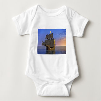 Medieval Carrack at Twilight Baby Bodysuit