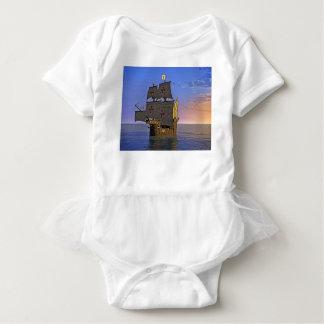 Medieval Carrack at Twilight Baby Bodysuit